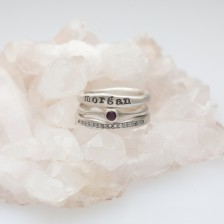 Adored Ring Trio {Sterling Silver}