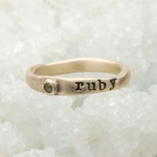 Personalized Passage Ring {10K Gold}