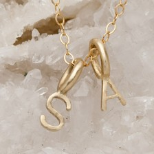 My Tribe Initials Necklace {10K Gold}