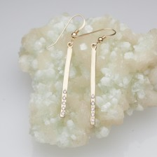 Cross Bar Earrings {10K Gold}