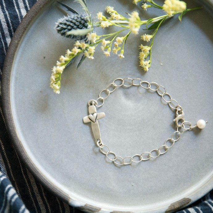 Cross Of Faith Bracelet Sterling Silver By Lisa Leonard