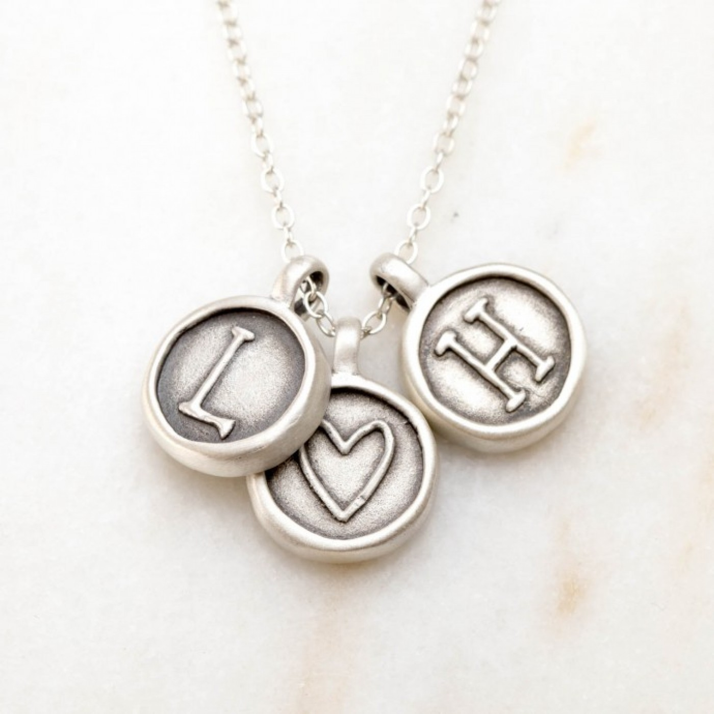 North Star Initial Necklace {Sterling Silver}