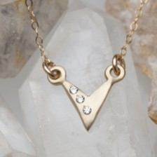 Forging Ahead Necklace {10K Gold}