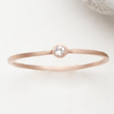 Finespun Birthstone Ring {10K Rose Gold}