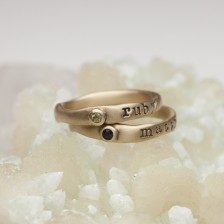Personalized Birthstone Ring {10K Gold}