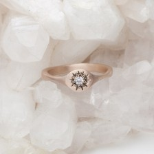 Sunburst Stacking Ring {10K Rose Gold}