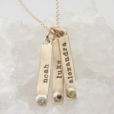 Bezel Birthstone Necklace {10K Gold}
