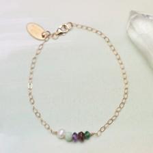 Dainty Birthstone Bracelet {Gold-Filled}