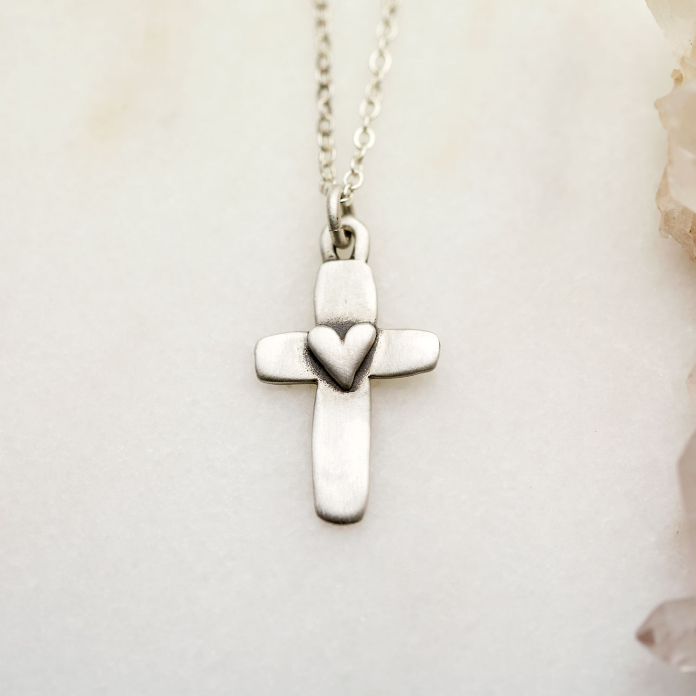 Cross Of Faith Necklace {Sterling Silver}