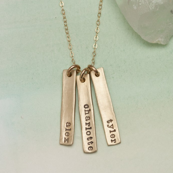Single Tag Necklace 10k Gold By Lisa Leonard Designs