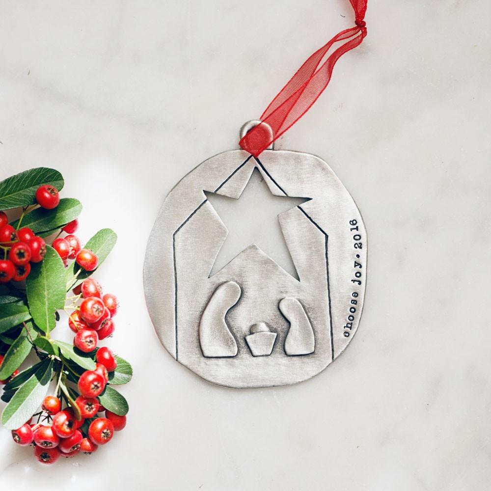 Nativity Ornament Pewter By Lisa Leonard Designs