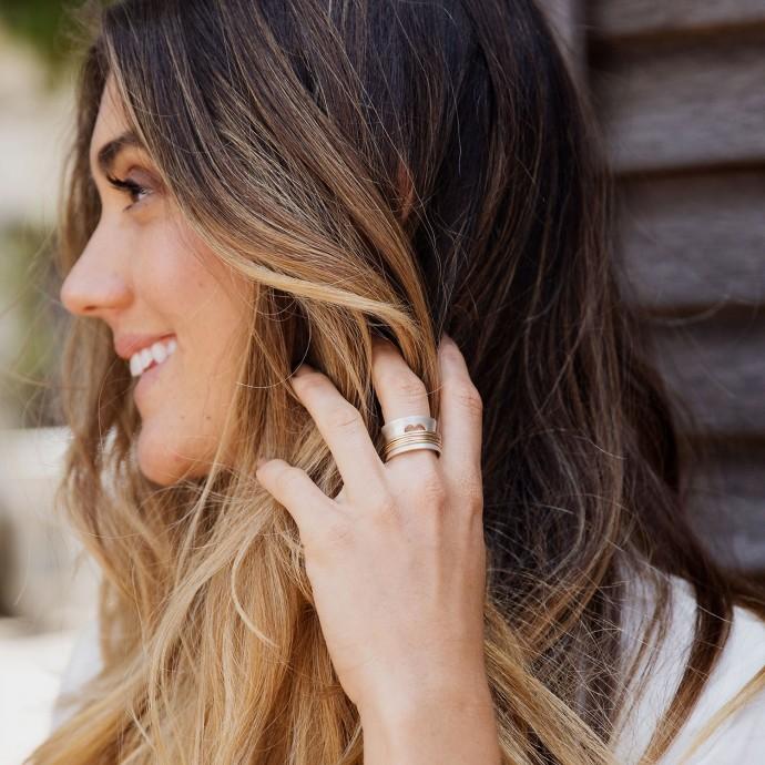 Brave Love Spinner Ring Sterling Silver By Lisa Leonard