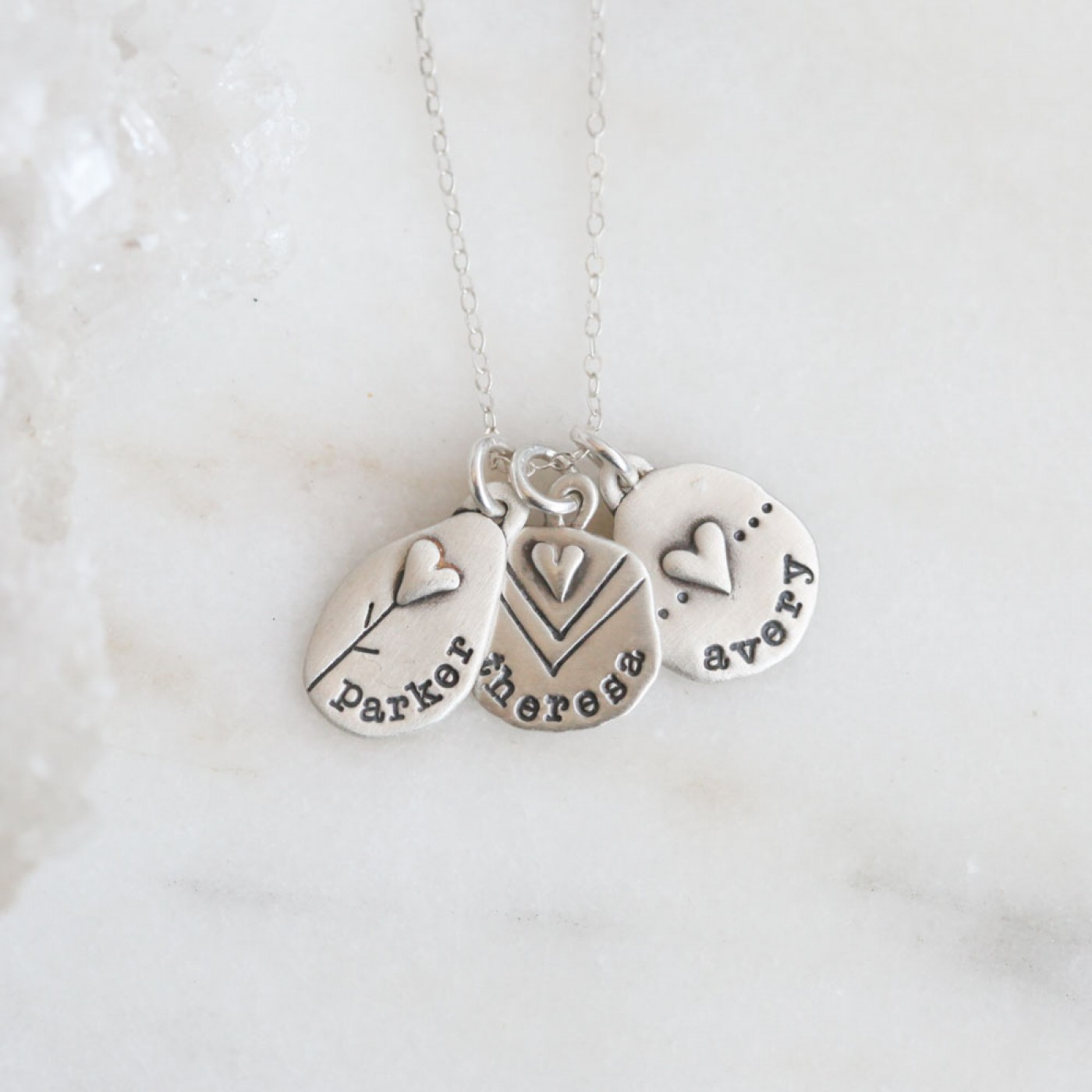Jumble Of Love Necklace {Sterling Silver}