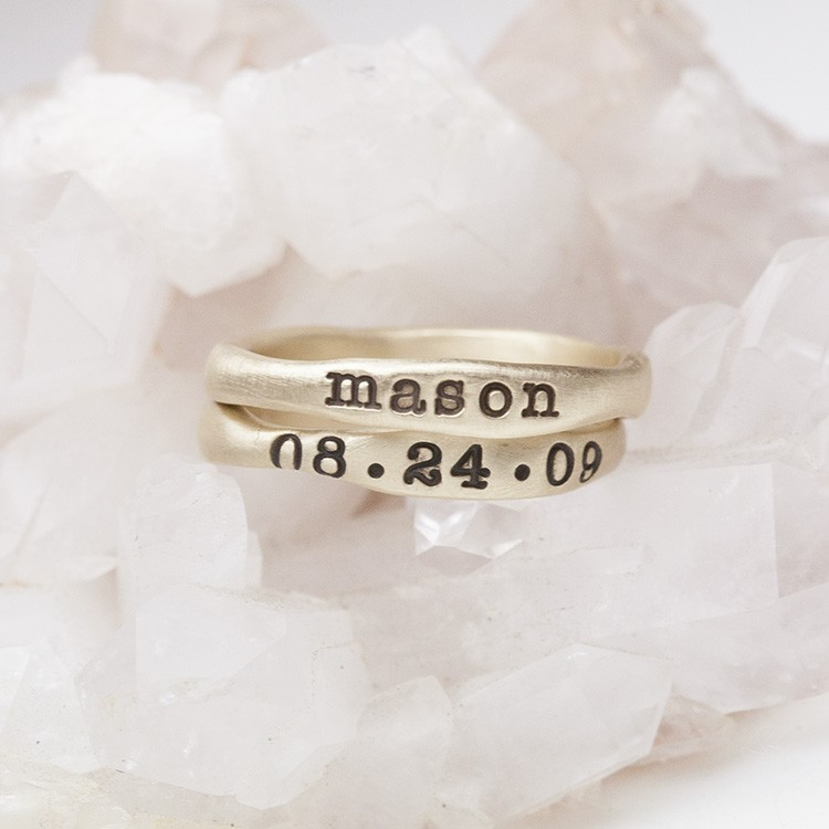 Gold Stacking Rings 14k Yellow Gold By Lisa Leonard Designs