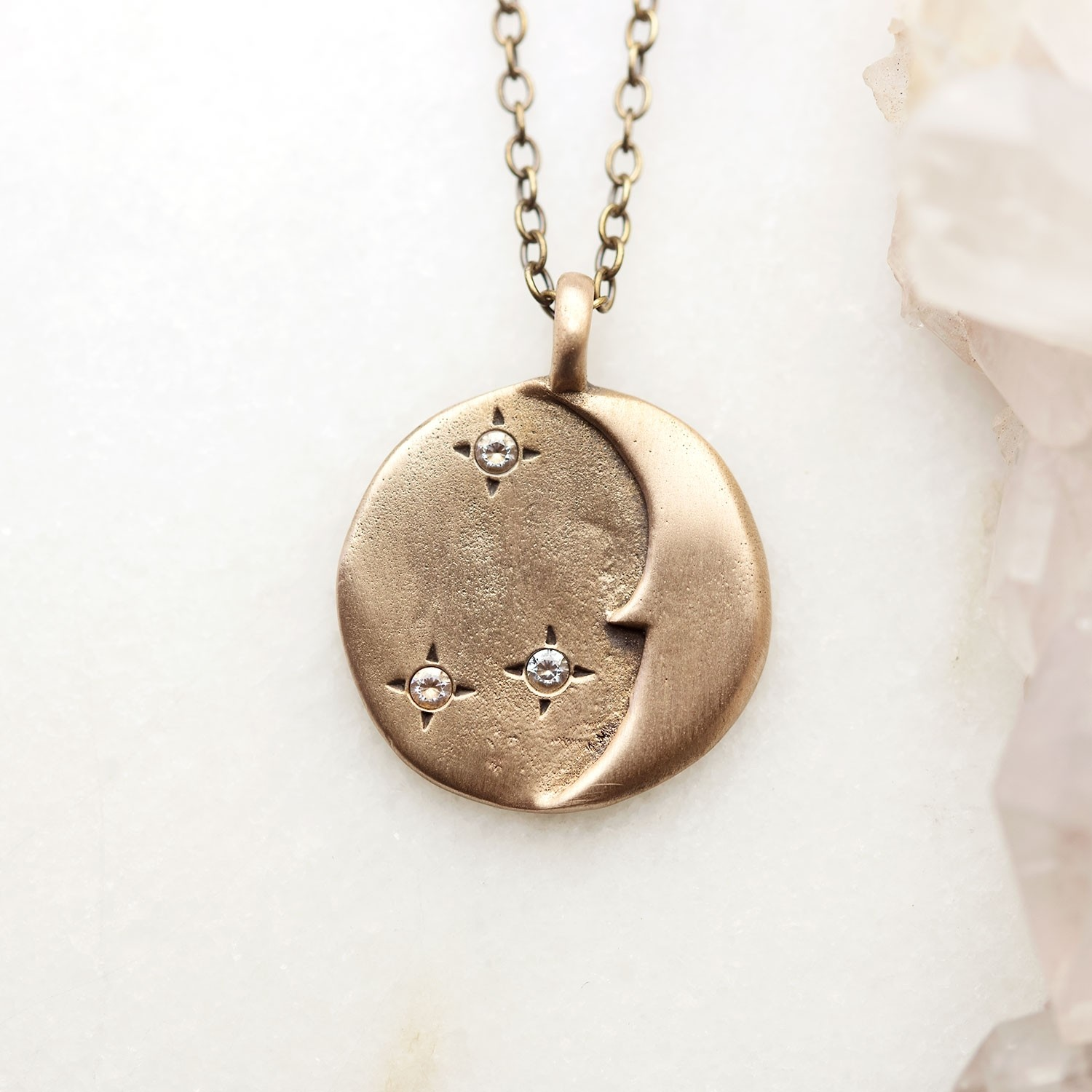 Moon And Stars Necklace Bronze By Lisa Leonard Designs