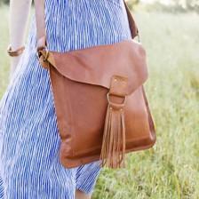 your heart in mine boho bag {honey brown}