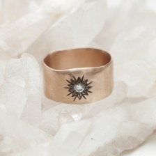 Sunburst Diamond Ring {10K Rose Gold}