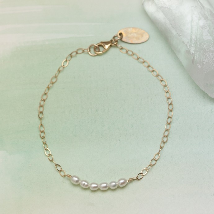Dainty Pearl Bracelet Gold Filled By Lisa Leonard