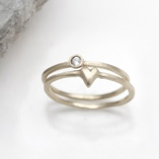 Love & Loss Ring Pair {10K Gold}