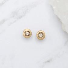 Sunburst Stud Earrings {10K Gold}