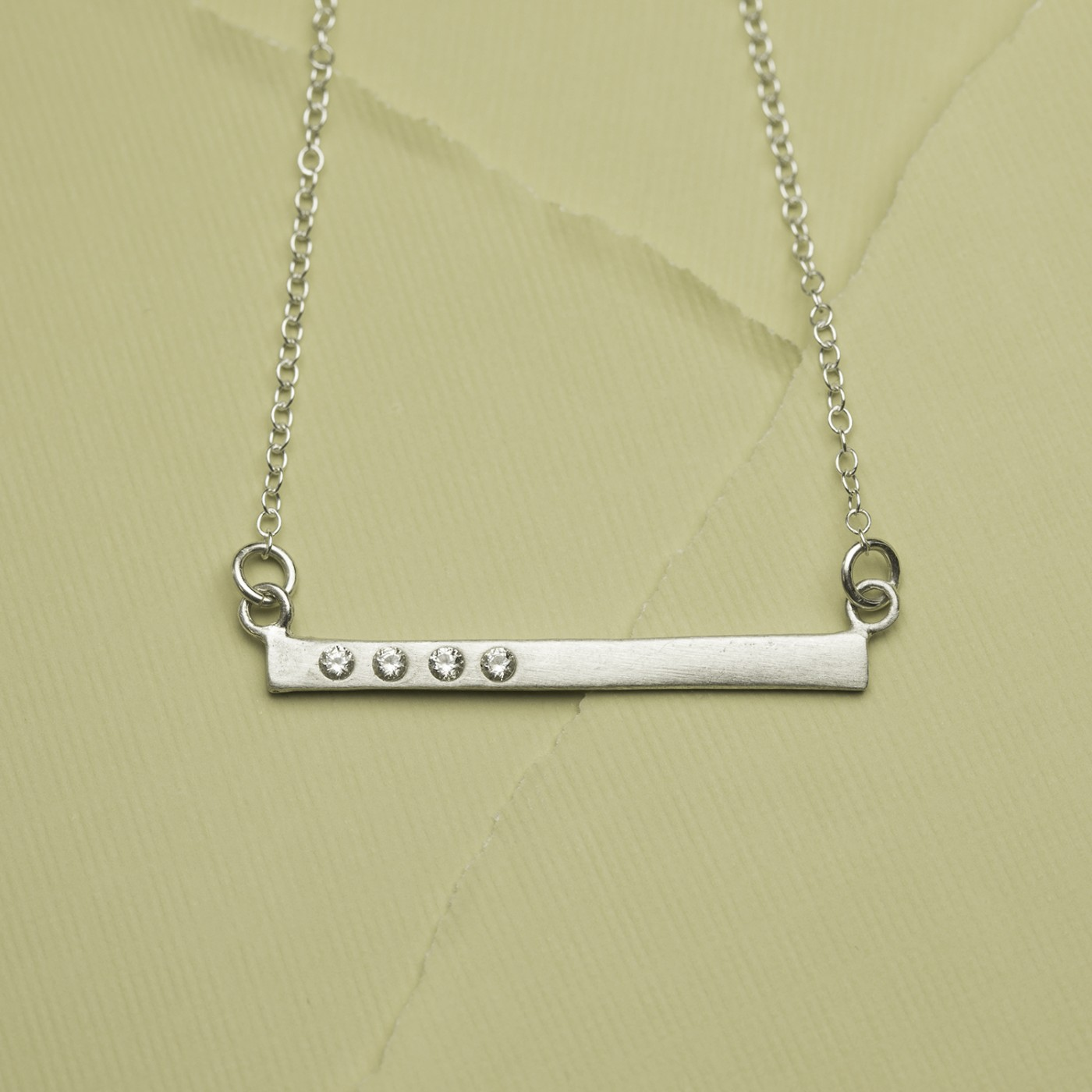 Cross Bar Necklace {Sterling Silver} - Ready to Ship