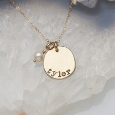 Petite Mother's Necklace {10K Gold}