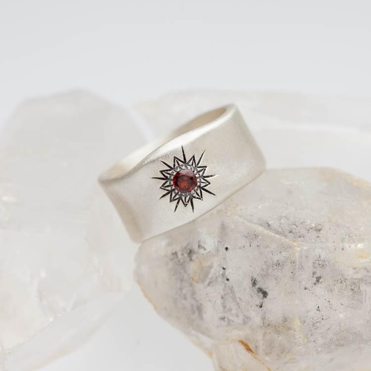 Sunburst Birthstone Ring By Lisa Leonard Designs