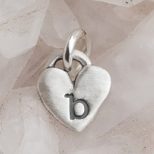 Cherished Heart Charm {Sterling Silver}