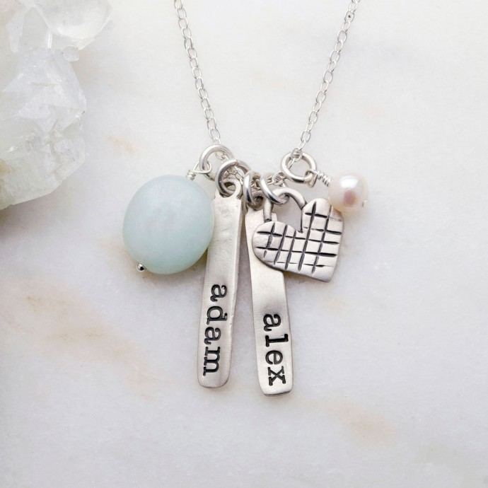 Cross my heart necklace by lisa leonard designs more views aloadofball Images