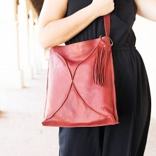 you are beautiful cross body {deep ruby}
