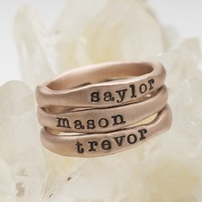 Rose Gold Stacking Rings {10K Rose Gold}