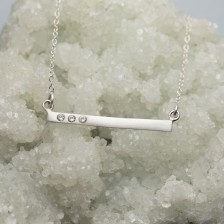 Cross Bar Necklace {Sterling Silver}