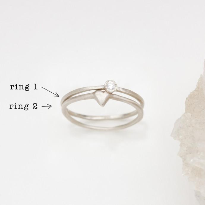 Love Amp Loss Ring Pair Sterling Silver By Lisa Leonard