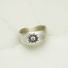 Sunburst Ring {Sterling Silver} - Ready To Ship