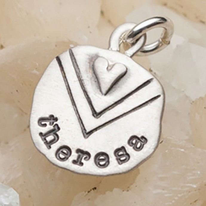 Heart With Chevron Charm By Lisa Leonard Designs
