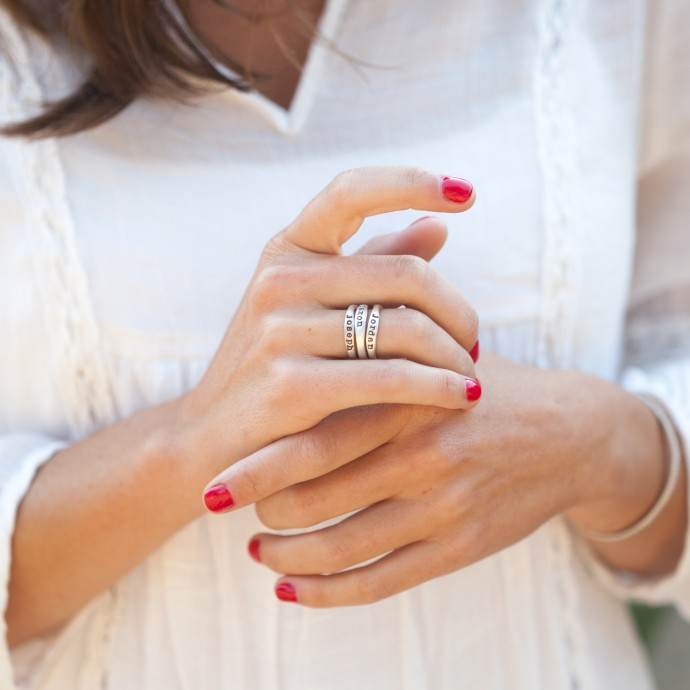 Stacking Name Rings Sterling Silver By Lisa Leonard Designs