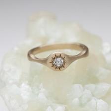 Sunburst Stacking Ring {10K Gold}