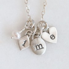 Wild About You Initials Necklace {Sterling Silver}