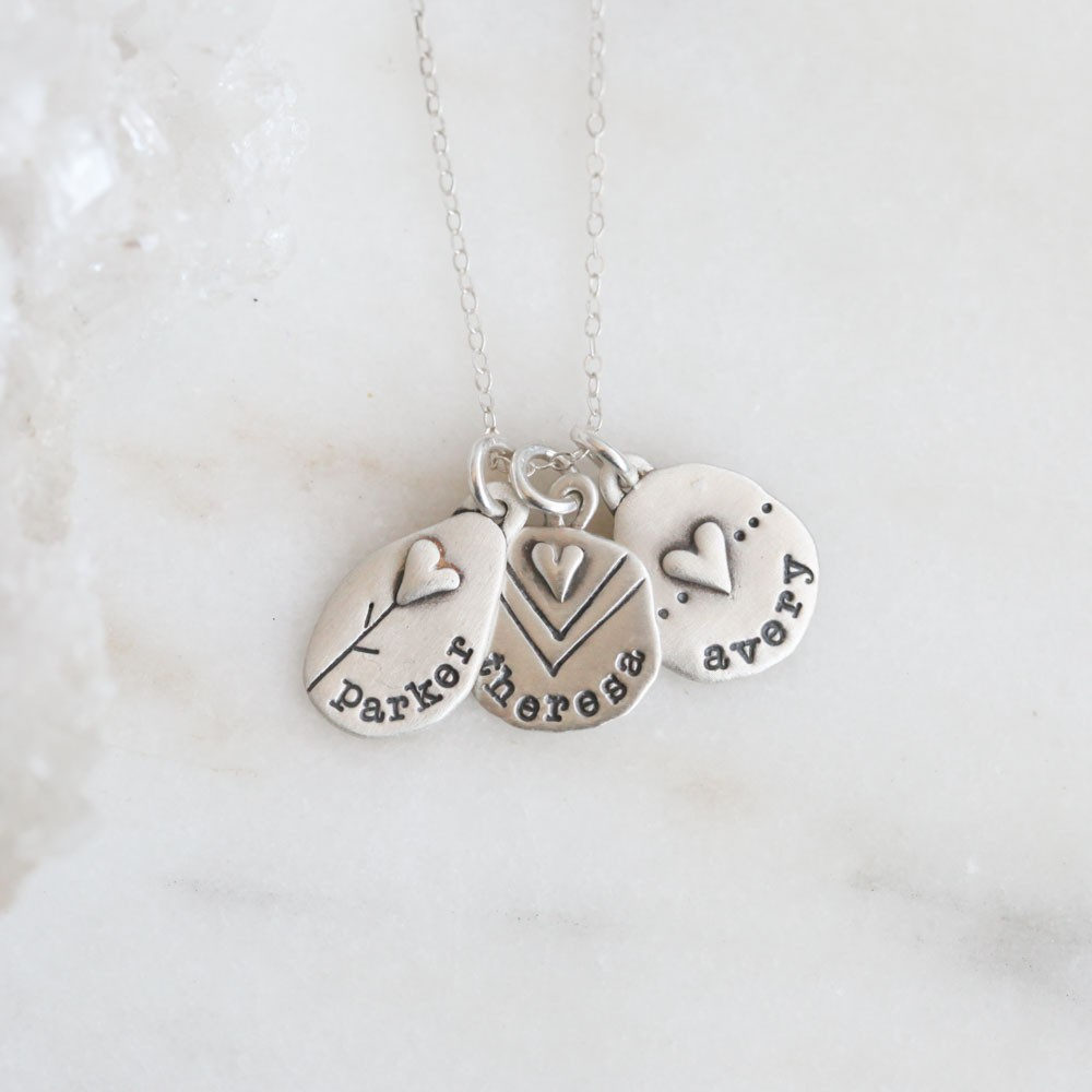 Jumble Of Love Necklace Sterling Silver