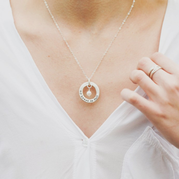 Open Circle Pearl Necklace By Lisa Leonard Designs