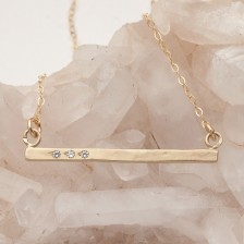 Cross Bar Necklace {10K Gold}