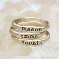 Gold Stacking Rings {10K Gold}