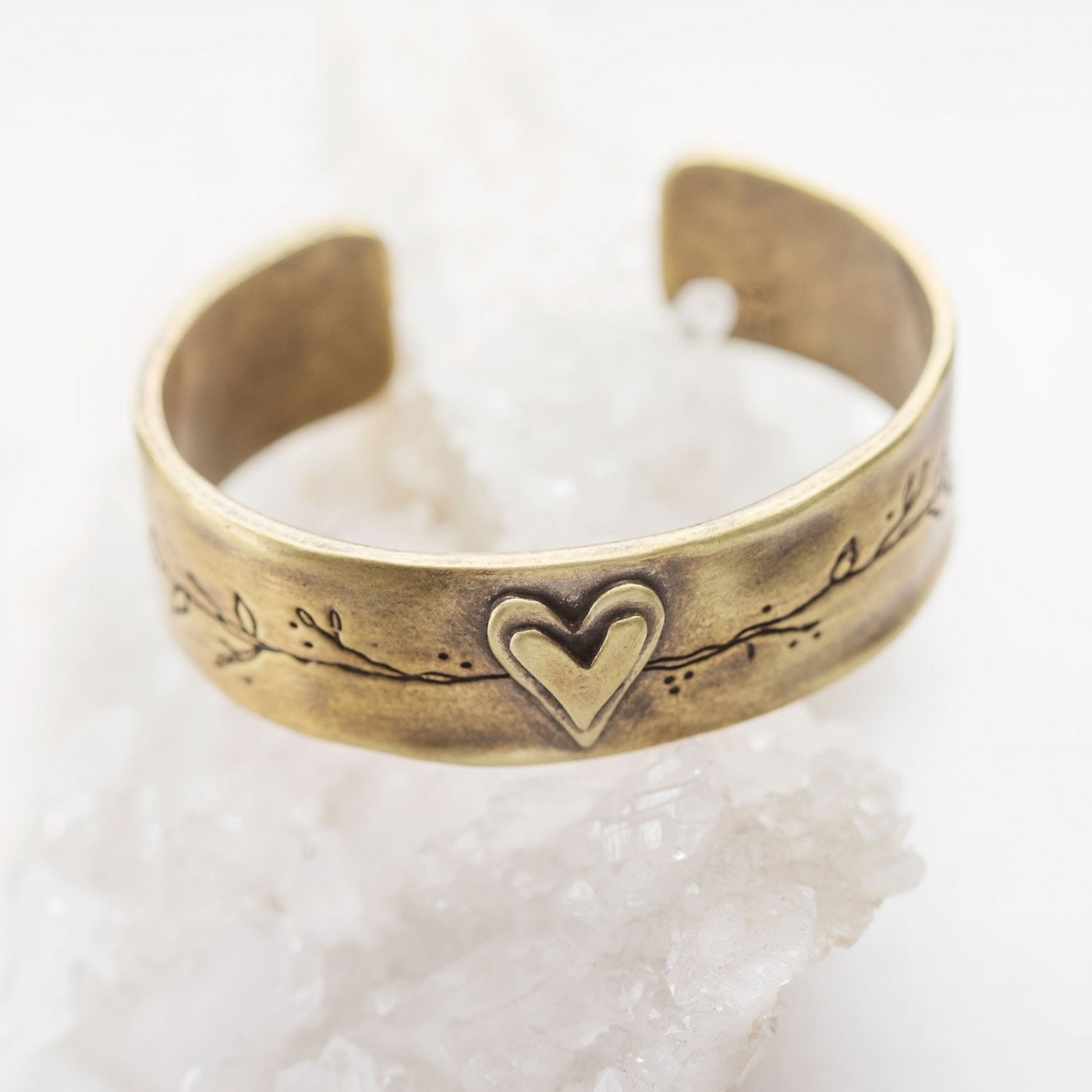 Let Love Grow Cuff {Bronze-Plated}