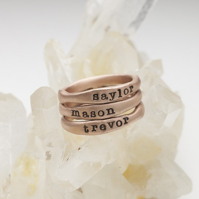 Rose Gold Stacking Rings by Lisa Leonard Designs