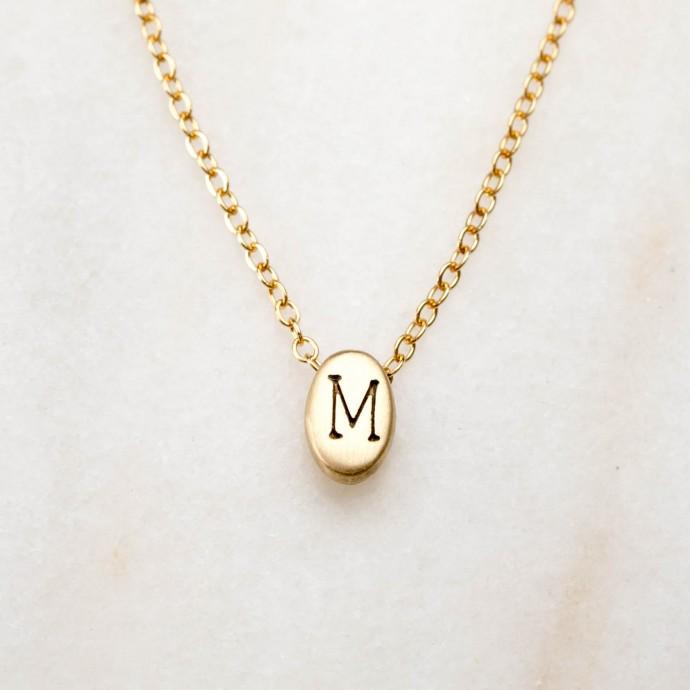 Draw Near Initials Necklace 10k Gold By Lisa Leonard Designs