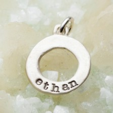 Mini Open Circle Charm {Sterling Silver}