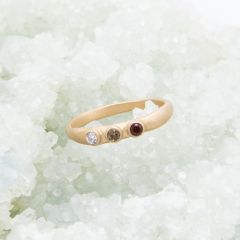 14K Gold Mother's Ring with Birthstones
