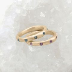 Birthstone Stacking Rings {10k Gold}