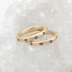 Birthstone Stacking Ring {14k Gold}