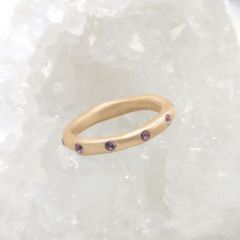 Birthstone Stacking Ring {14k Gold}